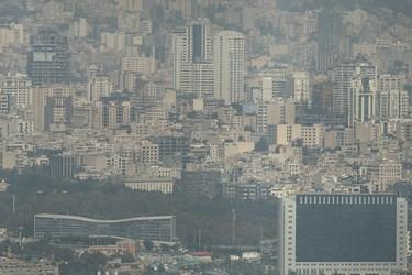 هوای ناسالم تهران / پردیس سینمایی ملت از فراز برج میلاد