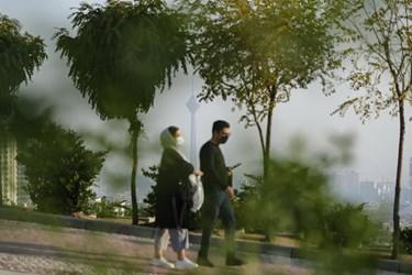 هوای ناسالم تهران/ بوستان پرواز محله سعادت آباد