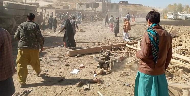 انفجار مهیب در  مرکز افغانستان 12 کشته و دهها زخمی برجای گذاشت + فیلم