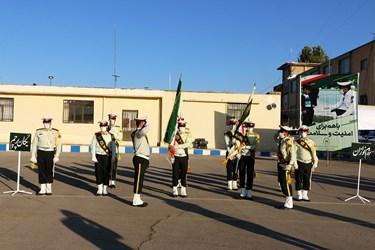 صبحگاه مشترک نیروهای انتظامی در شهرکرد