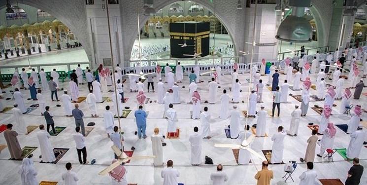 مسجدالحرام،زائران،خدا،خانه،جماعت،نماز،حضور،كرونا