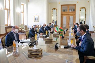 گفتگوی عبدالله عبدالله رییس شورای عالی صلح افغانستان و محمد جواد ظریف وزیر امور خارجه