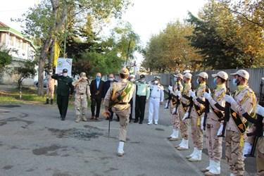 رژه صبحگاهی مرزداران غرب گیلان