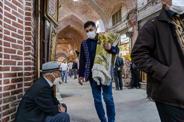 اجباری شدن استفاده از ماسک در اماکن سرپوشیده  از جمله بازار مظفریهی بازار تاریخی تبریز