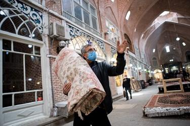 اجباری شدن استفاده از ماسک در اماکن سرپوشیده  از جمله در بازار مظفریهی بازار تاریخی تبریز
