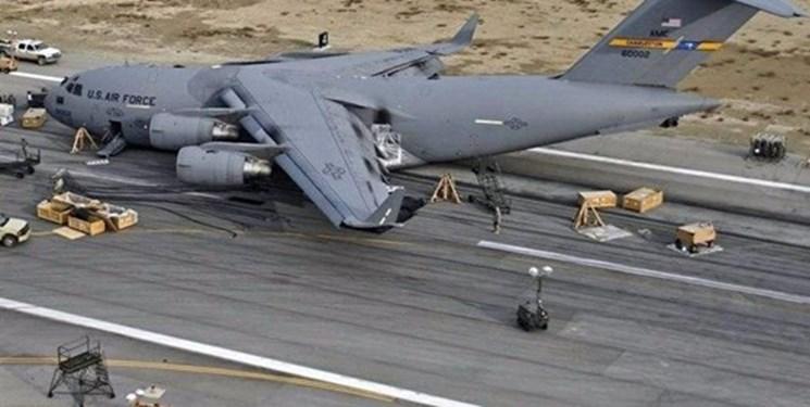 فرود اضطراری هواپیمای ترابری آمریکا در جنوب افغانستان