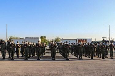 صبحگاه مشترک نیروی انتظامی در شرق استان تهران