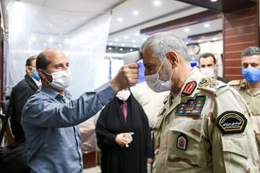 تب سنجی   سردار احمدعلی گودرزی فرمانده مرزبانی ناجا  هنگام ورود به خبرگزاری فارس