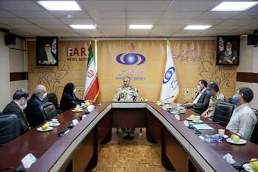 بازدید فرمانده مرزبانی ناجا از خبرگزاری فارس