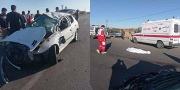 تصادف در محور شاهرود- آزادشهر با یک فوتی و ۳ مصدوم+ تصاویر
