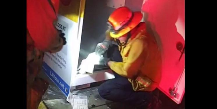 یک صندوق رأی در آمریکا به آتش کشیده شد/ مسؤولان: احتمالاً عمدی است
