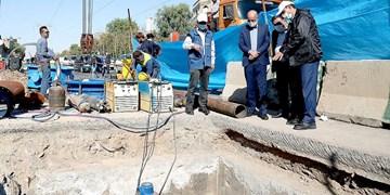رفع حادثه خط اصلی آبرسانی برای جلوگیری از  بروز خسارتهای سنگین است