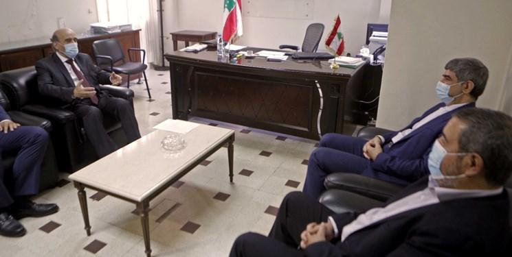 دیدار سفیر ایران و وزیر خارجه دولت پیشبرد امور لبنان