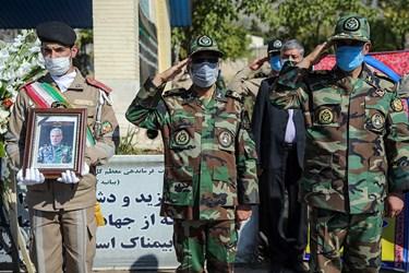 ادای احترام فرماندهان ارتش به مرحوم حسینعلی مصوری در ستاد فرماندهی نیروی زمینی ارتش