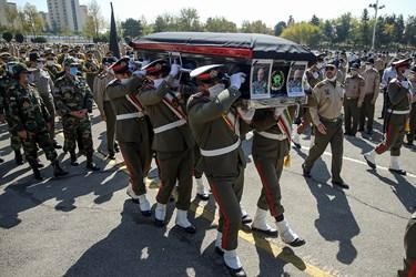 مراسم تشییع پیکر امیر حسینعلی مصوری در ستاد فرماندهی نیروی زمینی ارتش