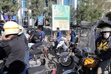 رزمایش موتورسیکلتسواران قانونمند در سنندج