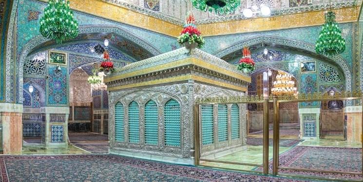ضریح امام رضا (ع) با نورپردازی جدید+عکس
