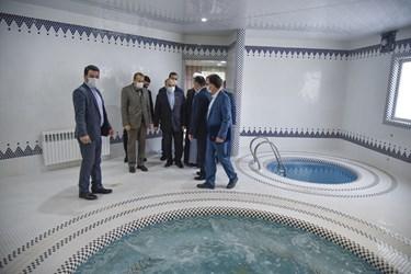 بهره برداری از استخر سرپوشیده در صایین قلعه توسط وزیر ورزش و جوانان