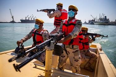 آمادگی نیروهای گلف تندرو  در رزمایش آرامش و امنیت مرزبانی ناجا در بوشهر
