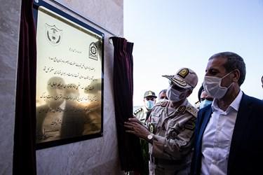 افتتاح پاسگاه پست کنترل و مراقبت دریایی جفره توسط سردار احمد علی گودرزی فرمانده مرزبانی ناجا