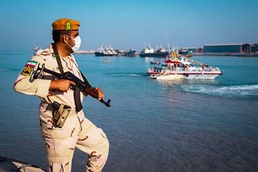 رزمایش آرامش و امنیت مرزبانی ناجا در بوشهر