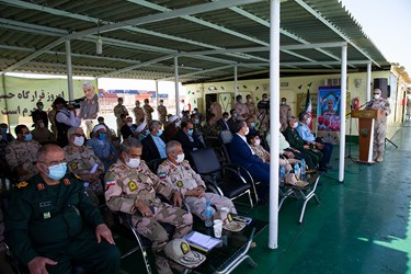 سخنرانی سردار  احمد علی گودرزی فرمانده مرزبانی ناجا در  رزمایش آرامش و امنیت مرزبانی ناجا در بوشهر
