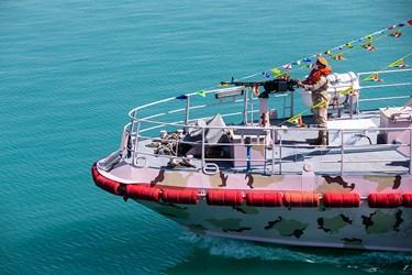 نیروهای ناوچه خلیج فارس در رزمایش