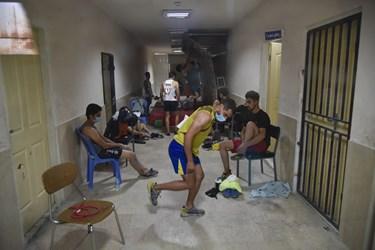 تونل قرنطینه در اردوی انتخابی  المپیک سنگنوردی بعلت عدم دیدن مسیر تعیین شده  برای مسابقه