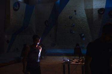 در پایان یکی از رقابت های اردوی انتخابی  المپیک سنگنوردی در زنجان