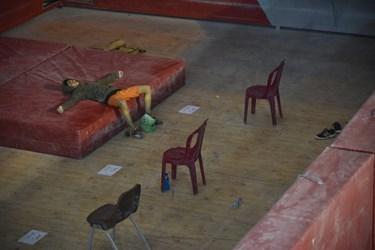 ناامیدی یکی از شرکت کنندگان در اردوی انتخابی  المپیک سنگنوردی در زنجان