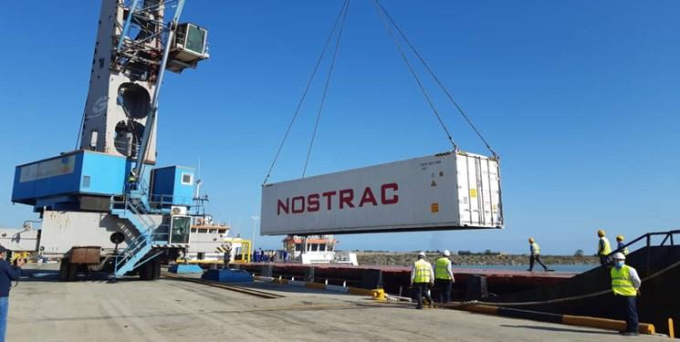 اتصال بندر آستارا به شبکه حمل و نقل کانتینری دریای خزر
