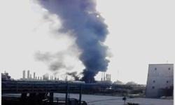 آتشسوزی در پتروشیمی بندر امام (ره) + فیلم