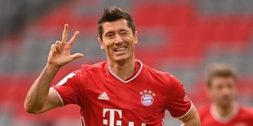لواندوفسکی بیشتر از رئال، بارسلونا، سیتی و یونایتد گل زده است