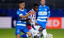 لیگ فوتبال هلند|شکست زووله بدون قوچان نژاد