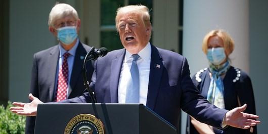 پاسخ خبرنگار CNN به ادعای ترامپ| 41 هزار آمریکایی در بیمارستان بستریاند