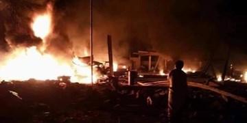 انفجار شدید در پایگاه ائتلاف سعودی در مرکز یمن