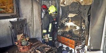 نجات ۴ شهروند از میان دود و آتش در الهیه مشهد