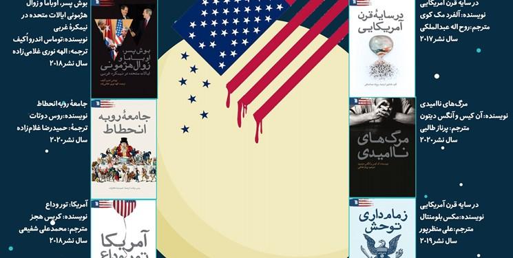 رونمایی ۶ کتاب جدید در آستانه ۱۳ آبان ماه با موضوع افول آمریکا