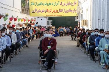 آمران امر به معروف و نهی از منکر در ۲۰۰ گروه مردمی بصورت داوطلب به همراه بسیجیان در ضدعفونی معابر کمک رسانی می کنند