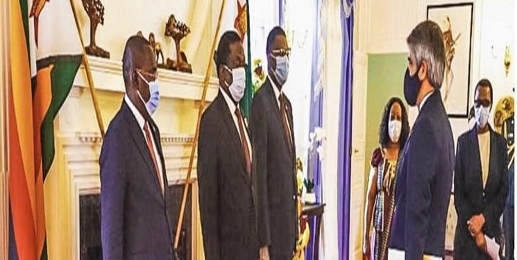 سفیر جدید ایران استوارنامه خود را تقدیم رئیس جمهور زیمبابوه کرد