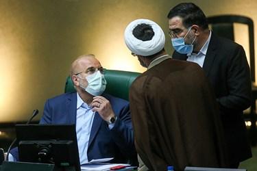 محمد باقر قالیباف رئیس مجلس شورای اسلامی در جلسه علنی مجلس/ 6 آبان 99