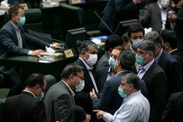 محمد اسلامی وزیر راه و شهرسازی در جلسه علنی مجلس /6 آبان 99