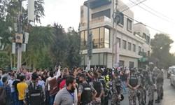 تحصن اردنیها برابر سفارت فرانسه در محکومیت اهانت به اسلام
