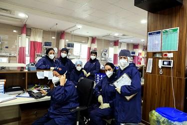 کادر درمانی بخش ویژه کرونای بیمارستان بوعلی قزوین