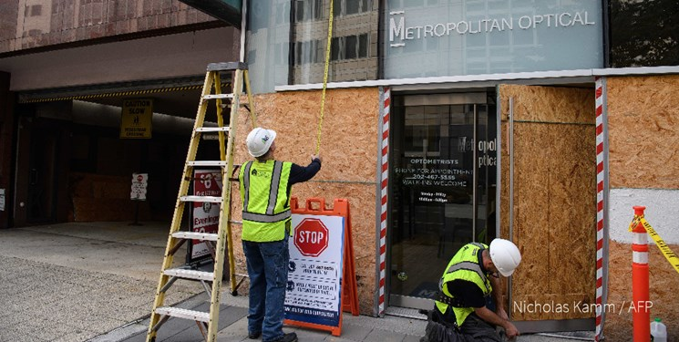مستحکم سازی حفاظ فروشگاهها در واشنگتن از ترس خشونتهای بعد از انتخابات