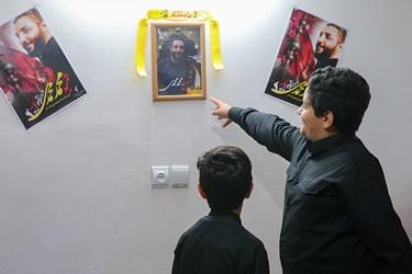 فرزندان شهید امر به معروف محمد محمدی در منزل شهید