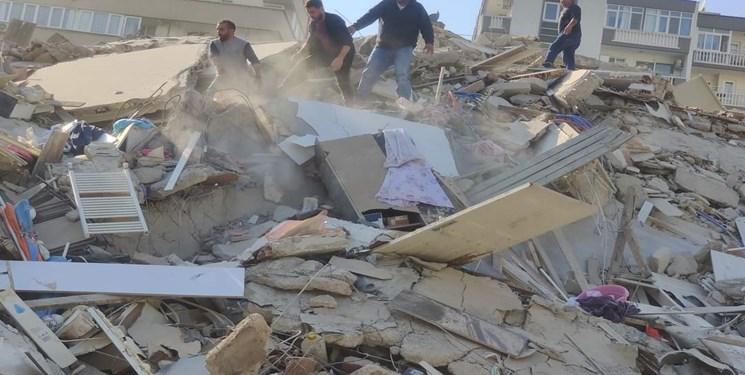 زلزله ازمیر ترکیه 12 کشته و 419 زخمی برجای گذاشت