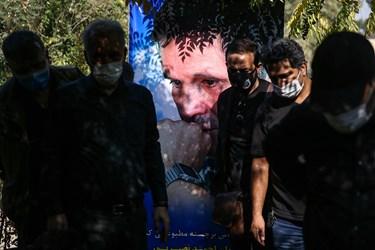 مراسم خاکسپاری احمد نصیرپور عکاس پیشکسوت خبری در قطعه هنرمندان بهشت زهرا(س)