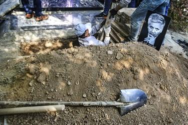 خاکسپاری زنده یاد احمد نصیرپور عکاس مطبوعات