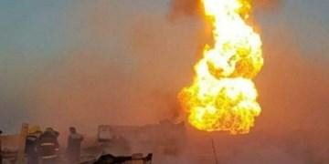 انفجار خط لوله گاز با پهپاد در استان المثنی عراق